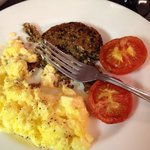 Fresh eggs w haggis was a delight