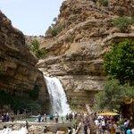 Semi-artificial waterfall