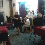 Fado on the terrace below the apartment