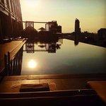 Sunset over the amazing infinity pool #worththestay #willbeback#TheOkuraPrestige