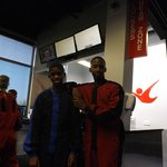 Alex and Miles enjoying their day at IFly SF Bay