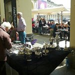 Piazza Vittorio Veneto: Torino: Italia: dehor e mercatino