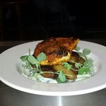 Madras spiced hake on new potatoes at bramsche Todmorden
