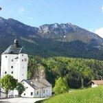 Die Aussicht auf die Wallfahrtskirche Mariastein