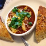 caribou chili & homemade bread