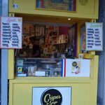 The iconic yellow shop's stand