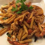 Penne with fresh crab and truffle sauce