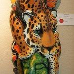 A mask on display