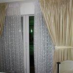 Patio doors to the balcony