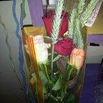 El ramo de rosas que me regaló mi amor durante el paseo post-comida :-)
