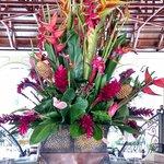 fresh flowers in the lobby