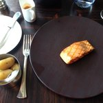 Gorgeous Scottish Salmon and Jersey Royals in Kaspar's