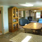 Family Cabin Dinning and Living Rooms