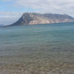 isola di Tavolara difronte la spiaggia