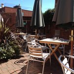 Try our sunny courtyard