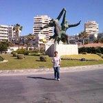 Statue neben Hotel Tarik