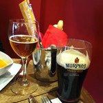 Cerveza guinness en barra