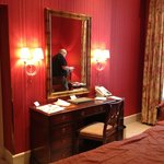 dressing table (with hubby reflected in the mirror!!)