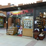 Sand art shop in the hotel grounds