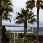 View of the bay bridge from the ballpark