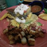 Marbled Corn Bread Scramble with Diced Redskins