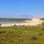 The beach seen from Baelo Claudia