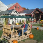 swing set, Vermont Country Store, Oct 2013