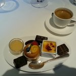 Chocolates and mini desserts to accompany coffee