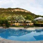 Vista lateral piscina