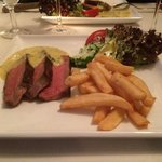 Steak, pommes frites and bearnaise sauce! Delicious!