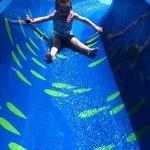 little slide at splash park