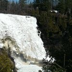 Frozen falls in the end of April 2014