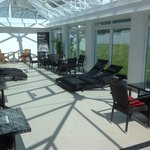 Conservatory area by the spa.