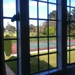 The view of the tennis court from our room