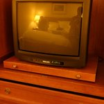 old style tv and very small