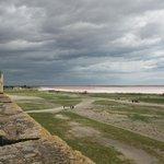 Aigues Mortes - vue sur les salins depuis les remparts