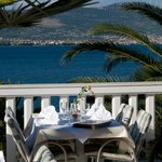 Nice view from restaurant terrasse.Breakfast , lunch, dinner, a al carte menu.See you. Welcome.