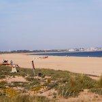 Meia Praia beach opposite hotel