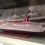 model of First Carnival Cruise ship