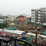Hua Lamphong train station view from room