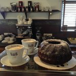 Excellent coffee and home made cakes