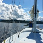 Sailing around Protection Island