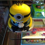 Anything can become a cake. Even a happy Minion!