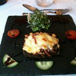 Lancashire cheese on treacle toast
