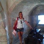 Espaço interno da Torre!!! Detalhe, a camisa do Leão. ;)