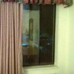 bottom floor window opens up all the way