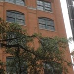 Famous window from the sixth floor of the Dallas school book depository