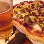 Trail Fire pizza and a Hopzone IPA!