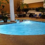 Indoor pool is a great place to relax