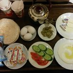 Arabian breakfast. Either in your room or in the eating area